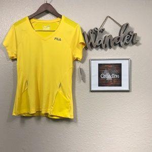 Fila yellow running T-shirt NWT